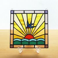 ステンドグラス ミニパネル 日の出ii 15cm