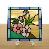 ステンドグラス ミニパネル 野の花 15cm