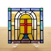 ステンドグラス ミニパネル クロス 15cm