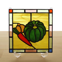 ステンドグラス ミニパネル 野菜 15cm