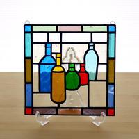 ステンドグラス ミニパネル ボトル 15cm