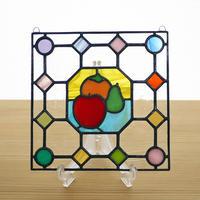 ステンドグラス ミニパネル フルーツ ドット 15cm