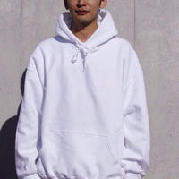 NOCTILUCA SERVICE Label Hoodie white