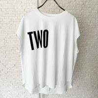 """""""TWO""""ロゴTシャツ"""