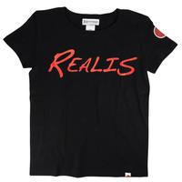 REALIS ロゴTシャツ / ブラック
