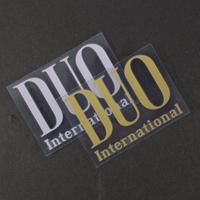 DUO 転写ステッカー ゴールド、シルバー 75mm×56mm