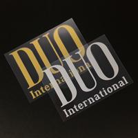 DUOロゴ転写シール(ゴールド・シルバー)82×115mm