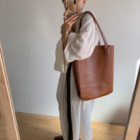 《予約販売》crocodile tote bag/2colors_na0197