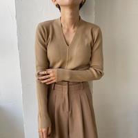 《予約販売》deep v neck lib knit/3colors_nt0741