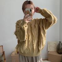 ✳︎予約販売✳︎fringe knit pullover_nt0233