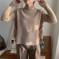 ✳︎予約販売✳︎side bottan knit_nt0215