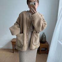 2way boa jacket/beige_no0027