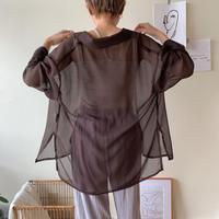《予約販売》sheer lady shirt/2 colors_nt0378