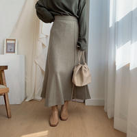 mermaid long skirt/2colors_ns0015