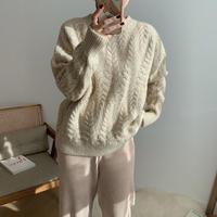 ✳︎予約販売✳︎twist warm knit/2colors_nt0182