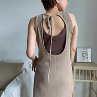 《予約販売》summer knit back open ops/2colors_nd0056