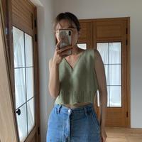 《予約販売》frill hem minimal knit vest /3colors_nt0490