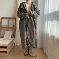 ✳︎予約販売✳︎tuck check coat/2colors_no0026