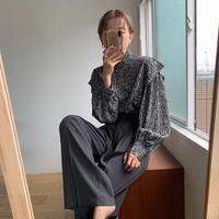 《予約販売》zebra mannish blouse/2colors_nt0570