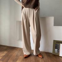 《予約販売》two tuck daily wide pants/2colors_np0263