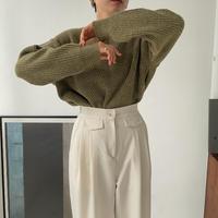 《予約販売》v neck melange knit/3colors_nt0826