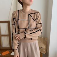 ✳︎予約販売✳︎ geometry knit_nt0259