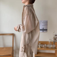 《予約販売》smooth sheer over shirt/3 colors_nt0375