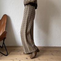 【nokcha original】vintage like knit pants_np0326