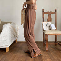 【nokcha original】material lady pants/brown_np0244