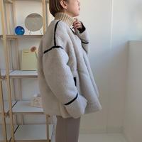 ✳︎予約販売✳︎piping boa jacket/Ivory_no0045