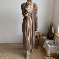 ✳︎予約販売✳︎lady knit long cardigan/2colors_nd0040