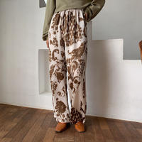 《予約販売》unique pattern silky pants/2colors_np0271
