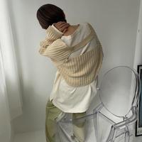 《予約販売》back open sleeve knit/2colors_nt0825