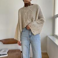 《予約販売》low gage minimal knit_nt0766
