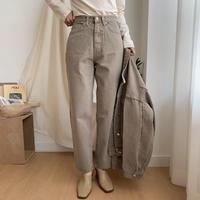 《予約販売》 washing beige jeans_np0143