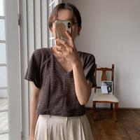 《予約販売》melange mesh minimal knit_nt0504