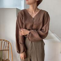 《予約販売》rincl croped blouse/2colors_nt0535