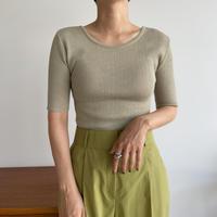 《予約販売》lib round linen knit tee/3colors _nt0995