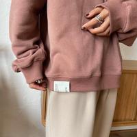 【nokcha original】unisex label hood pullover/dark pink_nt0736