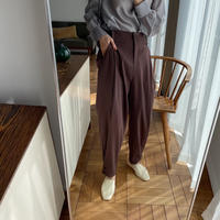 【nokcha original】tuck color pants/purple_np0347