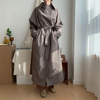 【nokcha original】quality trench coat/moca gray_no0080
