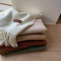《予約販売》wool muffler/5colors_na0242