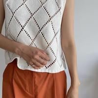 《予約販売》dia pattern mesh knit/2colors_nt0992