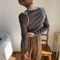 《予約販売》bi-color lady knit tops/2colors_nt0672