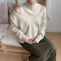 ✳︎予約販売✳︎2piece soft knit pullover_nt0154