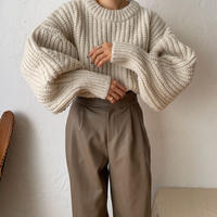 《予約販売》volume sleeve warm minimal knit_nt0806