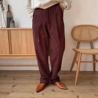 《予約販売》corduroy tuck pants/2colors_np0296