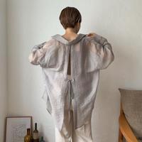 《予約販売》back open sheer blouse_nt0422