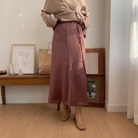 ✳︎予約販売✳︎satin wrap skirt/2colors_ns0022