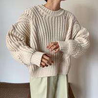《予約販売》s/s coloring knit/2colors_nt0844
